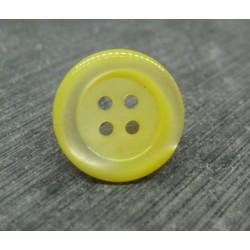 Bouton abalone pneu jaune 17mm
