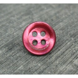 Bouton abalone rubis 11mm