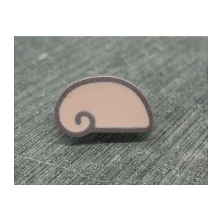 Bouton escargot stylé rose gris 18mm