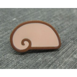 Bouton escargot stylé rose or 25mm