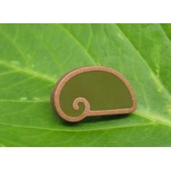 Bouton escargot stylé vert or 22mm
