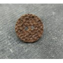 Bouton martelé chocolat 18mm