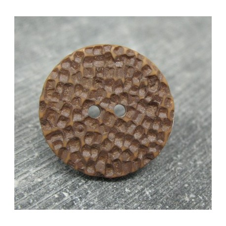 Bouton martelé chocolat 23mm