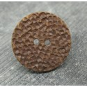 Bouton martelé chocolat 26mm