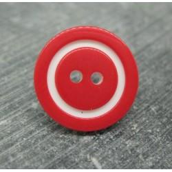 Bouton bicolore rouge blanc 18mm