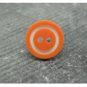 Bouton bicolore orange blanc 15mm