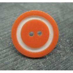 Bouton bicolore orange blanc 22mm