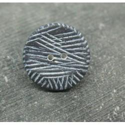 Bouton strié marin blanc 22mm