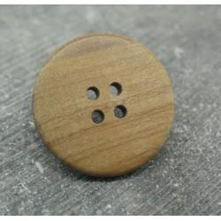 Bouton olivier naturel 25mm