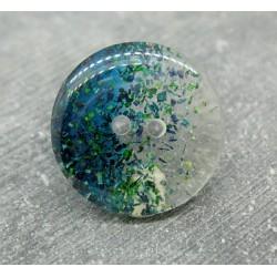 Bouton translucide vert 26mm