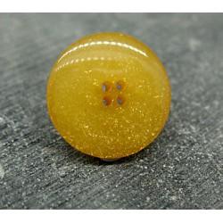 Bouton jaune maïs pailleté or 18mm