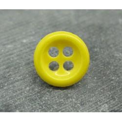 Bouton jaune émaillé verni 18mm