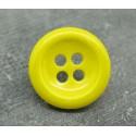 Bouton jaune émaillé verni 23mm