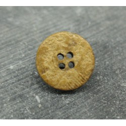 Bouton coco caramel 4t 18mm