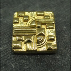 Bouton carré métal or 31mm