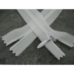 Zip invisible 4mm blanc