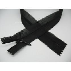 Zip invisible 4mm noir de 22 à 60cm