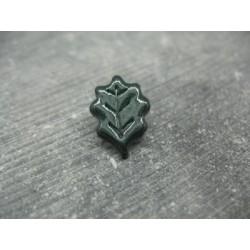 Bouton feuille de chêne vert foncé verni 15mm