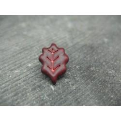 Bouton feuille de chêne bordeaux 18mm