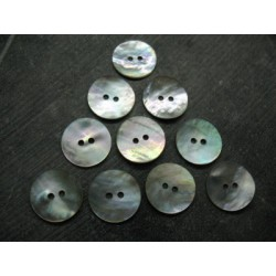Lot 10 boutons nacre agoya naturel 18mm