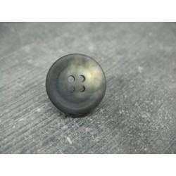 Bouton imitation corne anthracite 20mm
