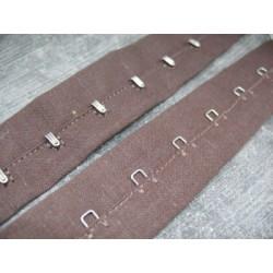 Bande agrafe métal marron ruban coton