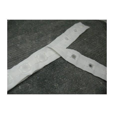 Bande pression blanche ruban nylon
