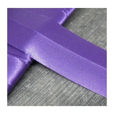 Biais semi plié satin  violet 15mm