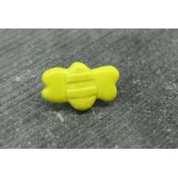 Bouton abeille jaune émaillé verni 13 15 18mm