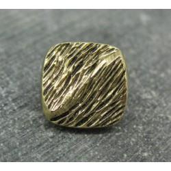 Bouton métallisé or strié 17mm