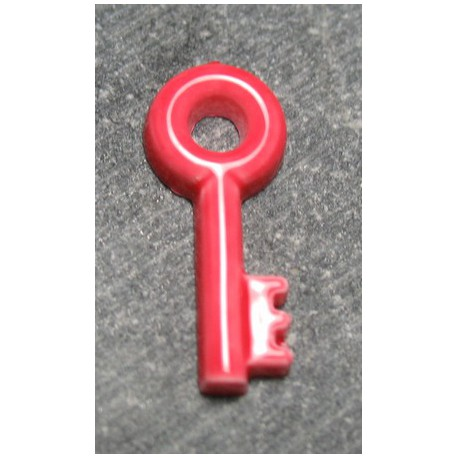 Bouton clef rouge 18 mm b22