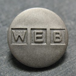 Bouton web gris 18 mm b6