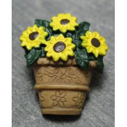 Bouton panier fleur 25 mm b35