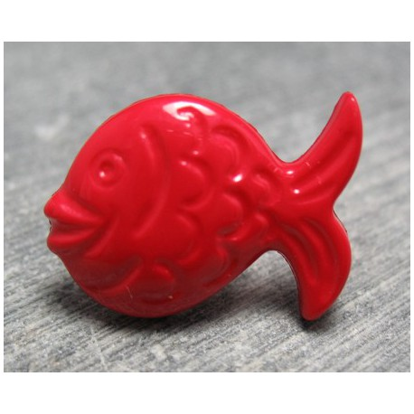 Bouton poisson rouge 21 mm b70