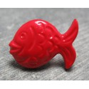 Bouton poisson rouge 21 mm b70