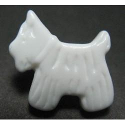 Bouton chien blanc 17 mm b18