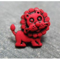 Bouton lion  rouge 17 mm b23
