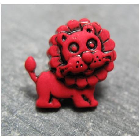 Bouton lion  rouge 17 mm b23