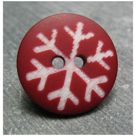 Bouton flocon rubis 18 mm b61