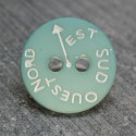 Bouton NSEO vert d eau 13 mm b61