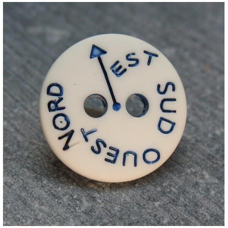 Bouton NSEO écru 13 mm b61