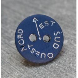 Bouton NSEO bleu marin 13 mm b61