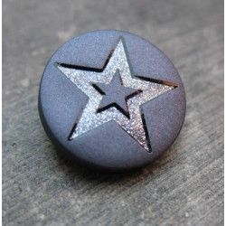 Bouton étoile bleu raf 18mm