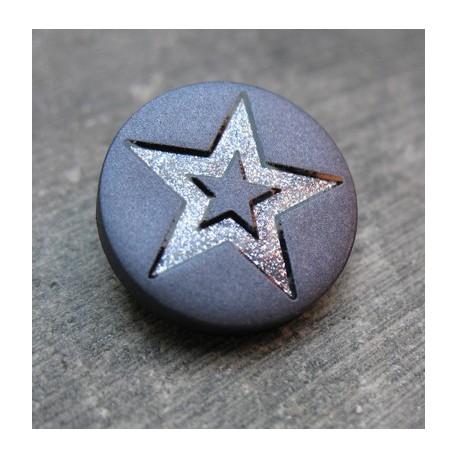 Bouton étoile bleu raf 18 mm b1