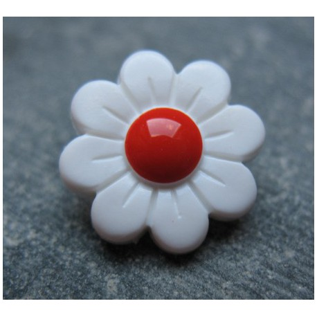 Bouton marguerite point rouge 15 mm b26