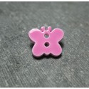 Bouton papillon rose 15 mm b8