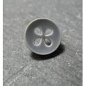 Bouton gris souris 4t trèfle 12 mm b55