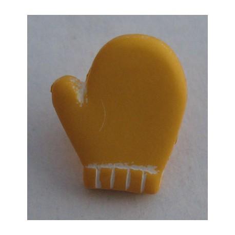 Bouton moufle jaune 12 mm b2