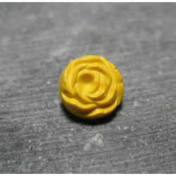 Bouton rose jaune 13mm