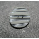 Bouton strie bambou gris  amande 22 mm b10